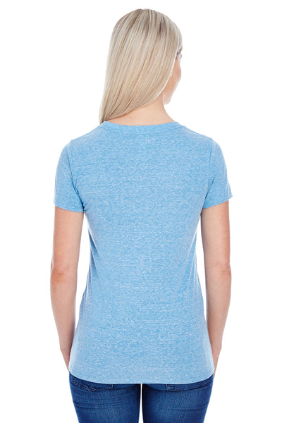 Threadfast Apparel 202A Womens Short Sleeve Crewneck T-Shirt Royal Blue Back