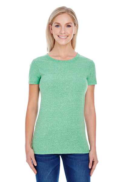 Threadfast Apparel 202A Womens Short Sleeve Crewneck T-Shirt Green Front