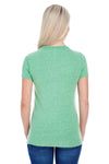 Threadfast Apparel 202A Womens Short Sleeve Crewneck T-Shirt Green Back