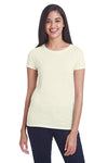 Threadfast Apparel 202A Womens Short Sleeve Crewneck T-Shirt Cream Front