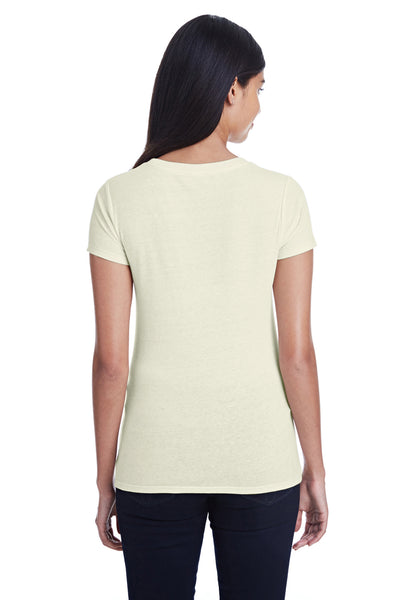 Threadfast Apparel 202A Womens Short Sleeve Crewneck T-Shirt Cream Back