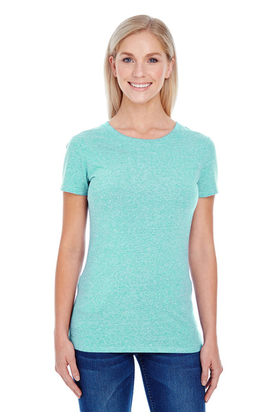Threadfast Apparel 202A Womens Short Sleeve Crewneck T-Shirt Mint Green Front
