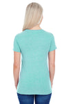 Threadfast Apparel 202A Womens Short Sleeve Crewneck T-Shirt Mint Green Back
