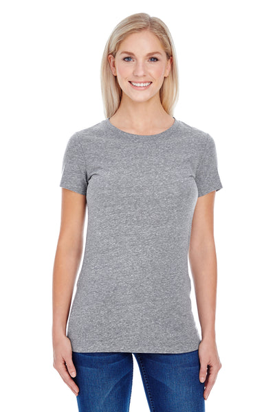 Threadfast Apparel 202A Womens Short Sleeve Crewneck T-Shirt Grey Front