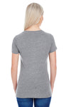 Threadfast Apparel 202A Womens Short Sleeve Crewneck T-Shirt Grey Back