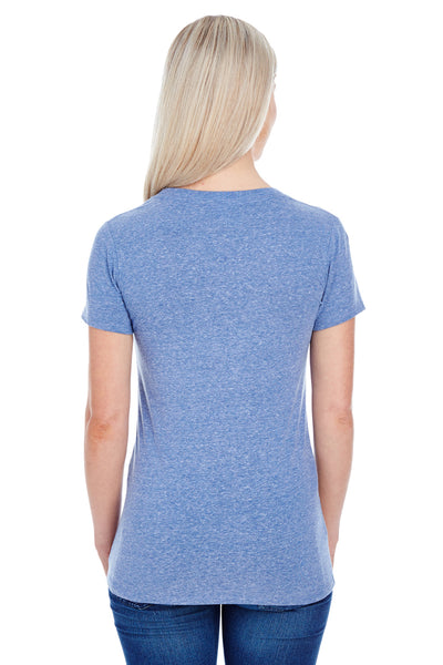 Threadfast Apparel 202A Womens Short Sleeve Crewneck T-Shirt Navy Blue Back