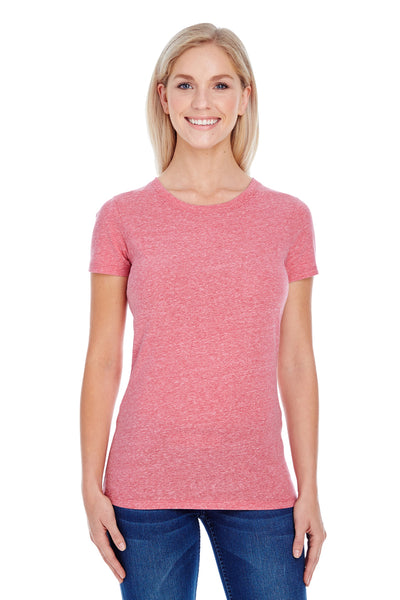 Threadfast Apparel 202A Womens Short Sleeve Crewneck T-Shirt Red Front