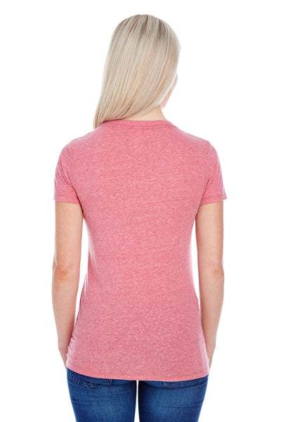 Threadfast Apparel 202A Womens Short Sleeve Crewneck T-Shirt Red Back