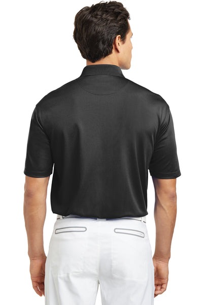 Nike 203690 Mens Tech Basic Dri-Fit Moisture Wicking Short Sleeve Polo Shirt Black Back