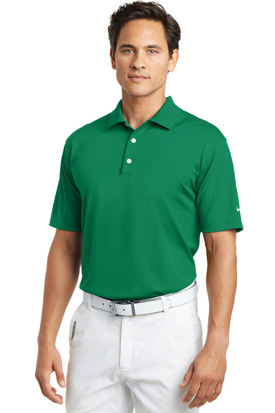 Nike 203690 Mens Tech Basic Dri-Fit Moisture Wicking Short Sleeve Polo Shirt Kelly Green Front