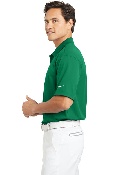 Nike 203690 Mens Tech Basic Dri-Fit Moisture Wicking Short Sleeve Polo Shirt Kelly Green Side