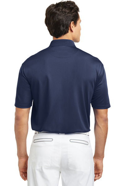 Nike 203690 Mens Tech Basic Dri-Fit Moisture Wicking Short Sleeve Polo Shirt Navy Blue Back