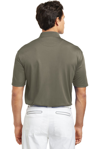 Nike 203690 Mens Tech Basic Dri-Fit Moisture Wicking Short Sleeve Polo Shirt Khaki Brown Back