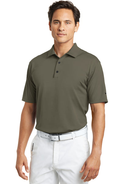 Nike 203690 Mens Tech Basic Dri-Fit Moisture Wicking Short Sleeve Polo Shirt Khaki Brown Front