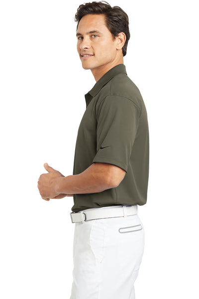 Nike 203690 Mens Tech Basic Dri-Fit Moisture Wicking Short Sleeve Polo Shirt Khaki Brown Side