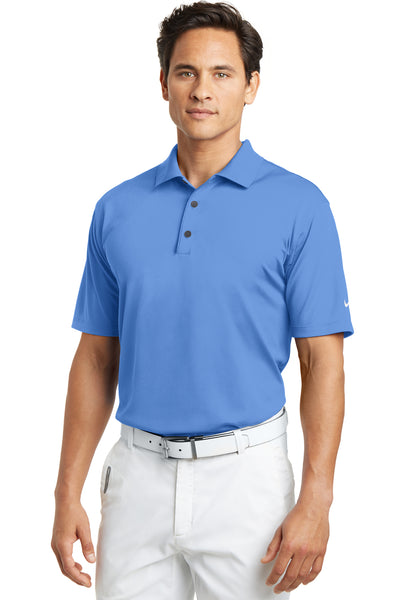 Nike 203690 Mens Tech Basic Dri-Fit Moisture Wicking Short Sleeve Polo Shirt University Blue Front