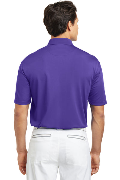 Nike 203690 Mens Tech Basic Dri-Fit Moisture Wicking Short Sleeve Polo Shirt Purple Back