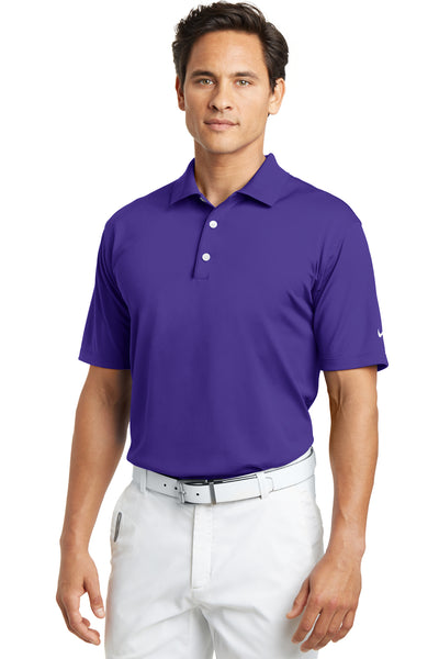 Nike 203690 Mens Tech Basic Dri-Fit Moisture Wicking Short Sleeve Polo Shirt Purple Front