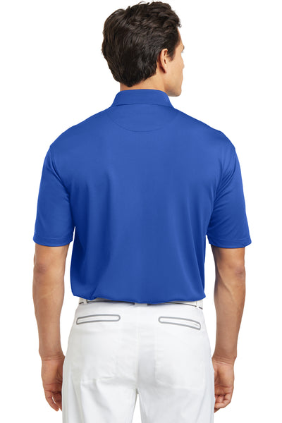 Nike 203690 Mens Tech Basic Dri-Fit Moisture Wicking Short Sleeve Polo Shirt Royal Blue Back