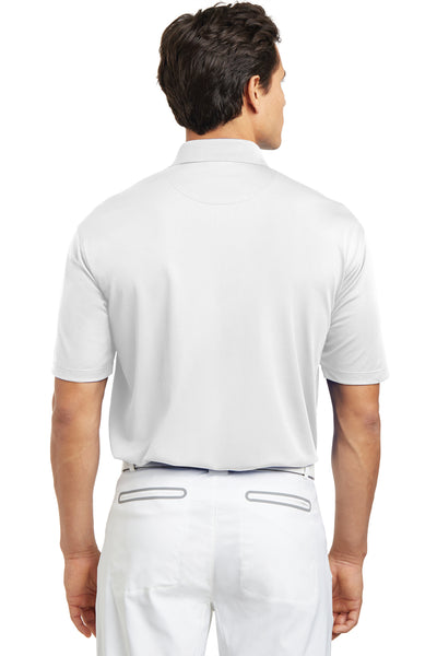 Nike 203690 Mens Tech Basic Dri-Fit Moisture Wicking Short Sleeve Polo Shirt White Back