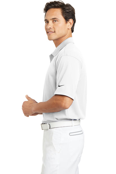 Nike 203690 Mens Tech Basic Dri-Fit Moisture Wicking Short Sleeve Polo Shirt White Side