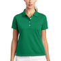 Nike Womens Tech Basic Dri-Fit Moisture Wicking Short Sleeve Polo Shirt - Lucky Green