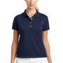 Nike Womens Tech Basic Dri-Fit Moisture Wicking Short Sleeve Polo Shirt - Midnight Navy Blue