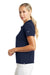 Nike 203697 Womens Tech Basic Dri-Fit Moisture Wicking Short Sleeve Polo Shirt Navy Blue Side