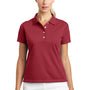 Nike Womens Tech Basic Dri-Fit Moisture Wicking Short Sleeve Polo Shirt - Pro Red