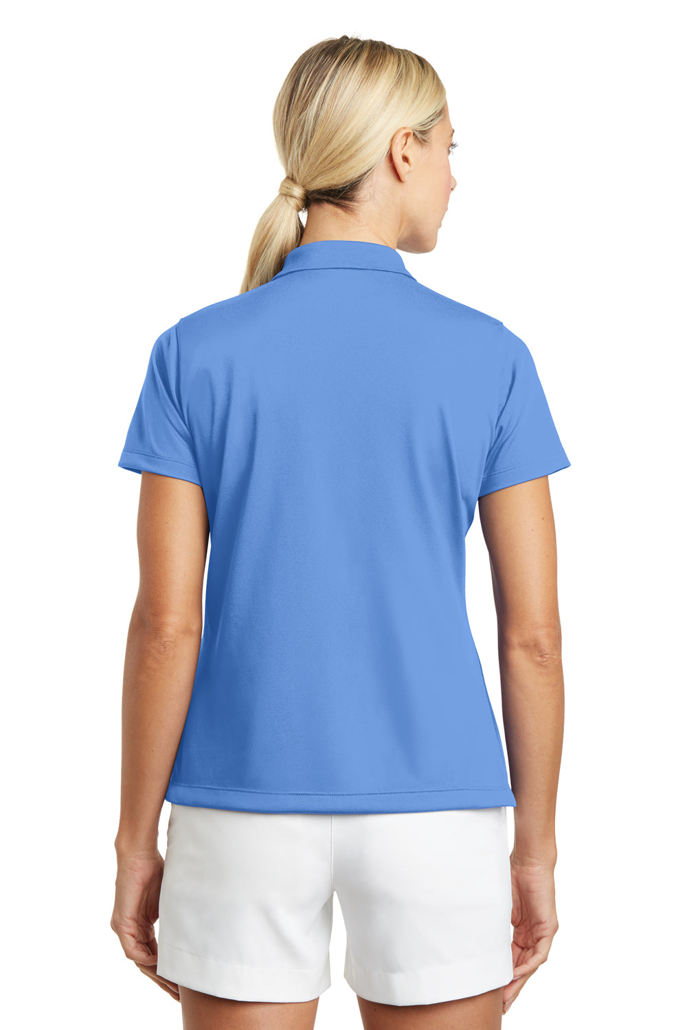 Nike 203697 Womens Tech Basic Dri-Fit Moisture Wicking Short Sleeve Polo Shirt University Blue Back