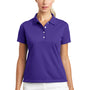 Nike Womens Tech Basic Dri-Fit Moisture Wicking Short Sleeve Polo Shirt - Varsity Purple