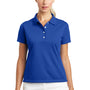 Nike Womens Tech Basic Dri-Fit Moisture Wicking Short Sleeve Polo Shirt - Varsity Royal Blue