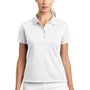 Nike Womens Tech Basic Dri-Fit Moisture Wicking Short Sleeve Polo Shirt - White