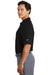 Nike 244612 Mens Dri-Fit Moisture Wicking Short Sleeve Polo Shirt Black Side
