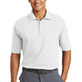 Nike Mens Dri-Fit Moisture Wicking Short Sleeve Polo Shirt - White - Closeout