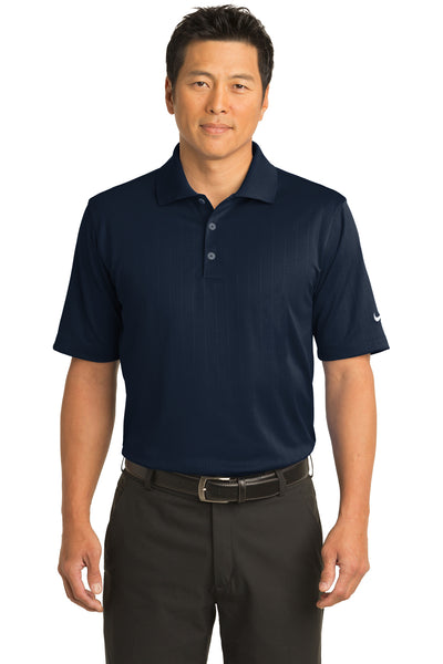 Nike 244620 Mens Dri-Fit Moisture Wicking Short Sleeve Polo Shirt Navy Blue Front