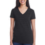 Threadfast Apparel Womens Short Sleeve V-Neck T-Shirt - Black