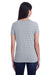Threadfast Apparel 252RV Womens Short Sleeve V-Neck T-Shirt Heather Grey Back