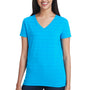 Threadfast Apparel Womens Short Sleeve V-Neck T-Shirt - Turquoise Blue