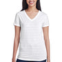Threadfast Apparel Womens Short Sleeve V-Neck T-Shirt - White