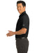 Nike 267020 Mens Classic Dri-Fit Moisture Wicking Short Sleeve Polo Shirt Black Side