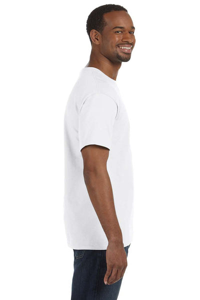 Jerzees 29M Mens Dri-Power Moisture Wicking Short Sleeve Crewneck T-Shirt White Side