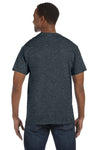 Jerzees 29M Mens Dri-Power Moisture Wicking Short Sleeve Crewneck T-Shirt Heather Black Back