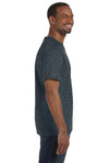 Jerzees 29M Mens Dri-Power Moisture Wicking Short Sleeve Crewneck T-Shirt Heather Black Side