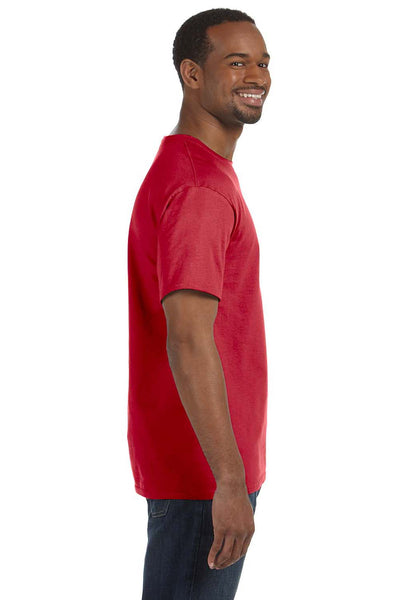 Jerzees 29M Mens Dri-Power Moisture Wicking Short Sleeve Crewneck T-Shirt Red Side