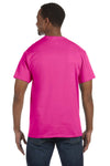 Jerzees 29M Mens Dri-Power Moisture Wicking Short Sleeve Crewneck T-Shirt Cyber Pink Back