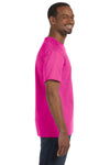 Jerzees 29M Mens Dri-Power Moisture Wicking Short Sleeve Crewneck T-Shirt Cyber Pink Side