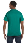 Jerzees 29M Mens Dri-Power Moisture Wicking Short Sleeve Crewneck T-Shirt Jade Green Back