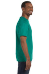 Jerzees 29M Mens Dri-Power Moisture Wicking Short Sleeve Crewneck T-Shirt Jade Green Side