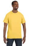 Jerzees 29M Mens Dri-Power Moisture Wicking Short Sleeve Crewneck T-Shirt Island Yellow Front